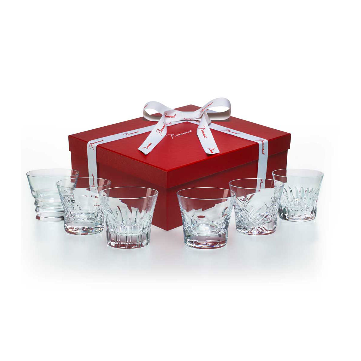Baccarat Crystal, Everyday Classic Assorted DOF Tumblers, Gift Boxed Set of Six