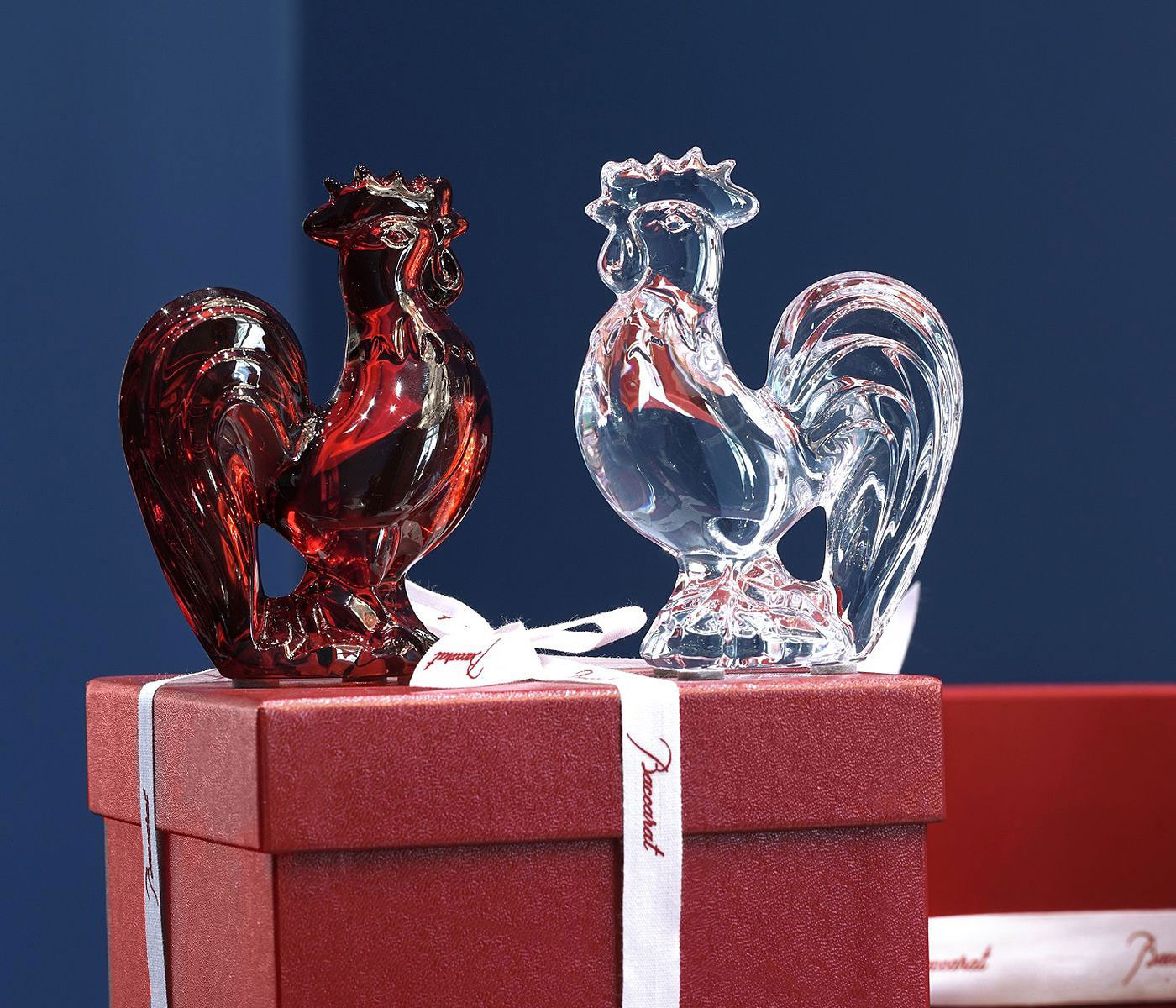 Baccarat Crystal, Zodiac Rooster, Red