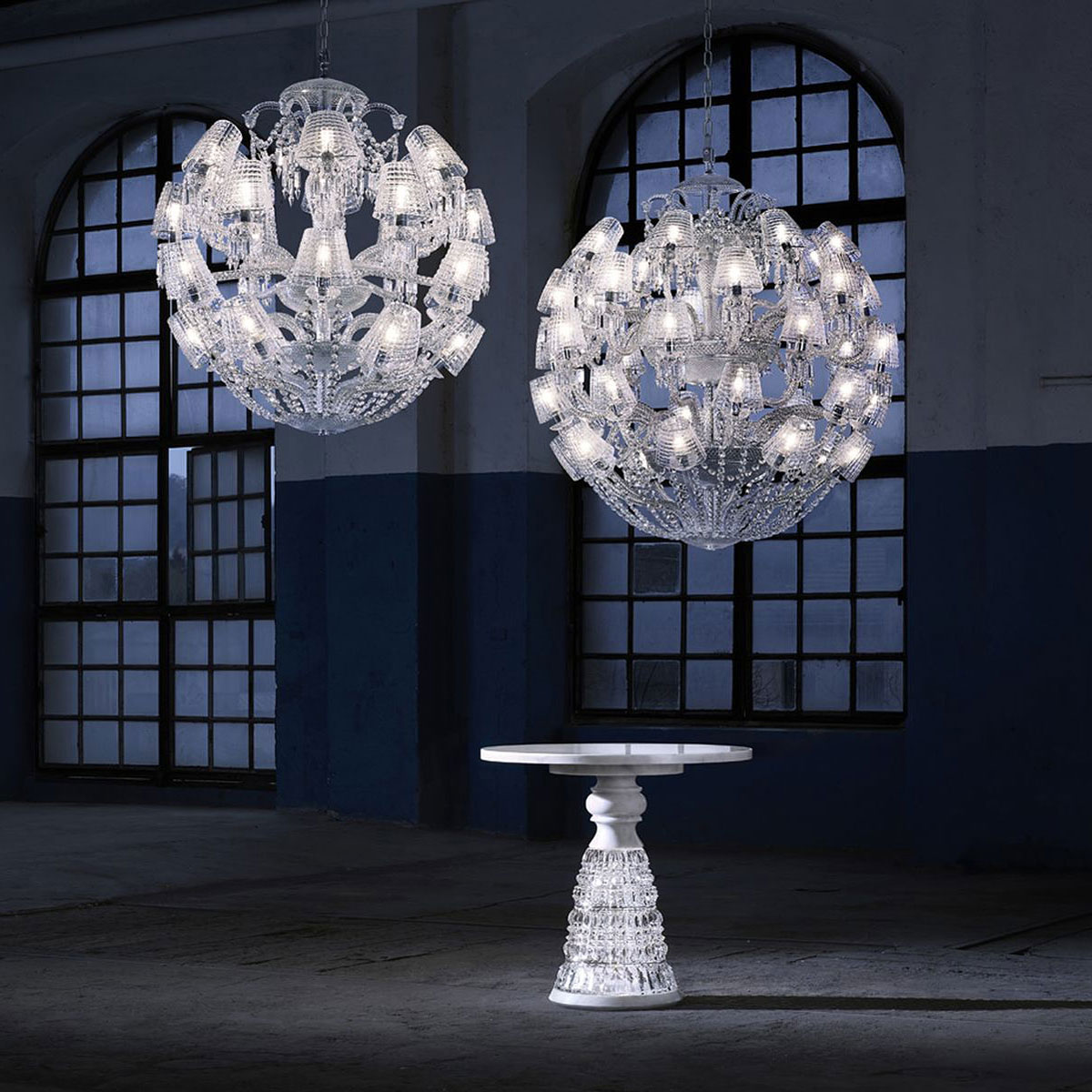 Baccarat Crystal, Le Roi Soleil 40 Light Crystal Chandelier