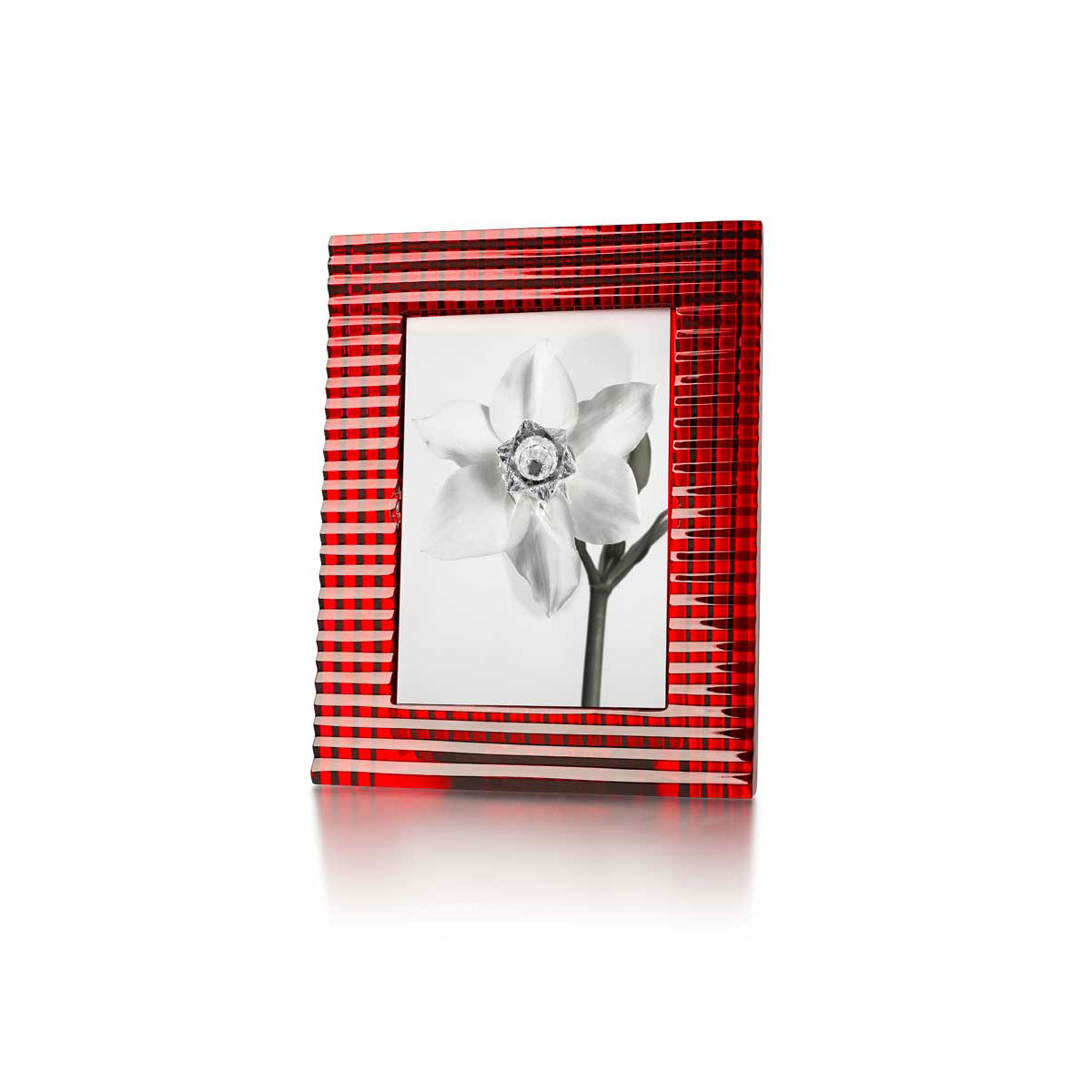 "Baccarat Crystal, Eye 5x7"" Picture Frame, Red"
