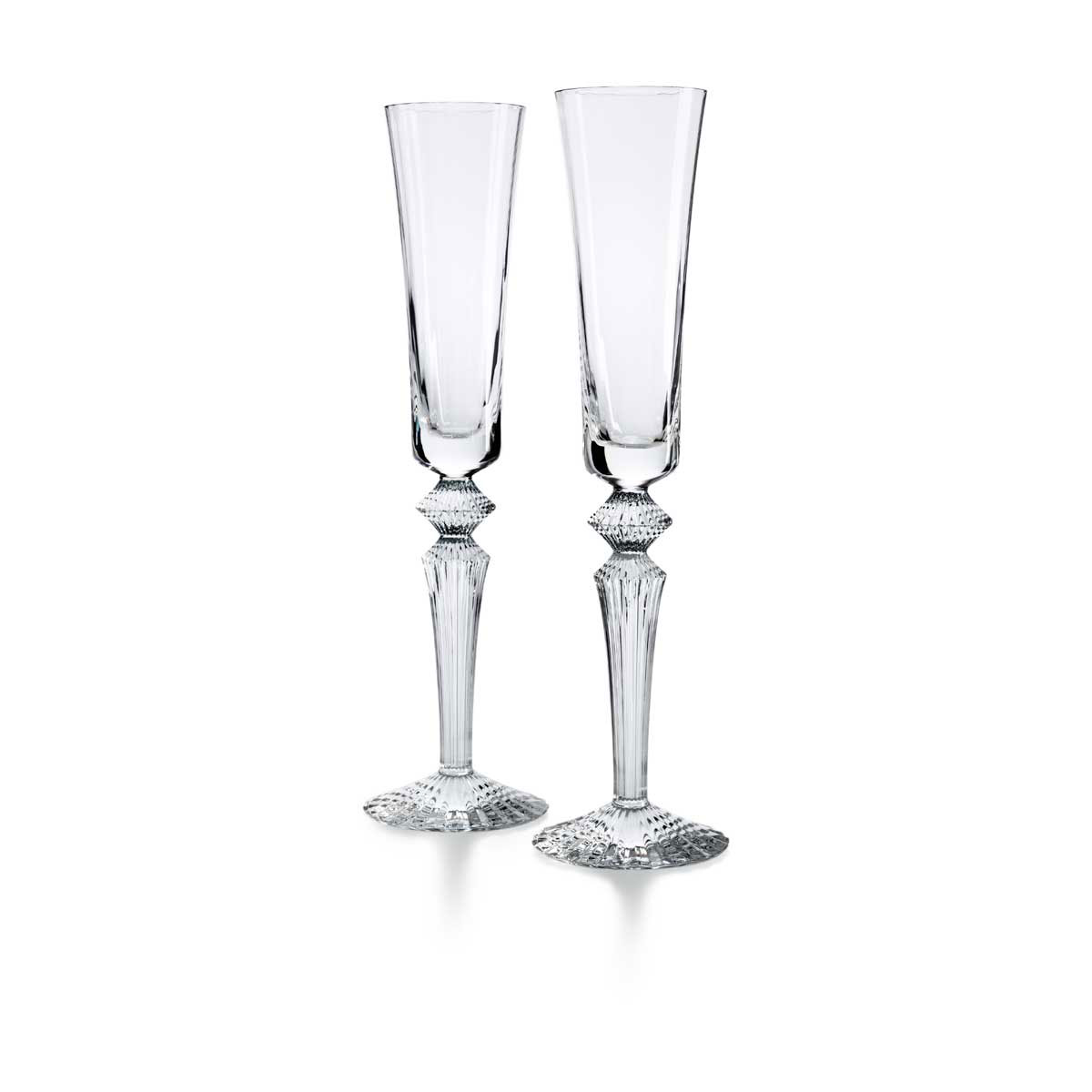 Baccarat Crystal, Mille Nuits Flutissimo Flutes, Clear, Pair