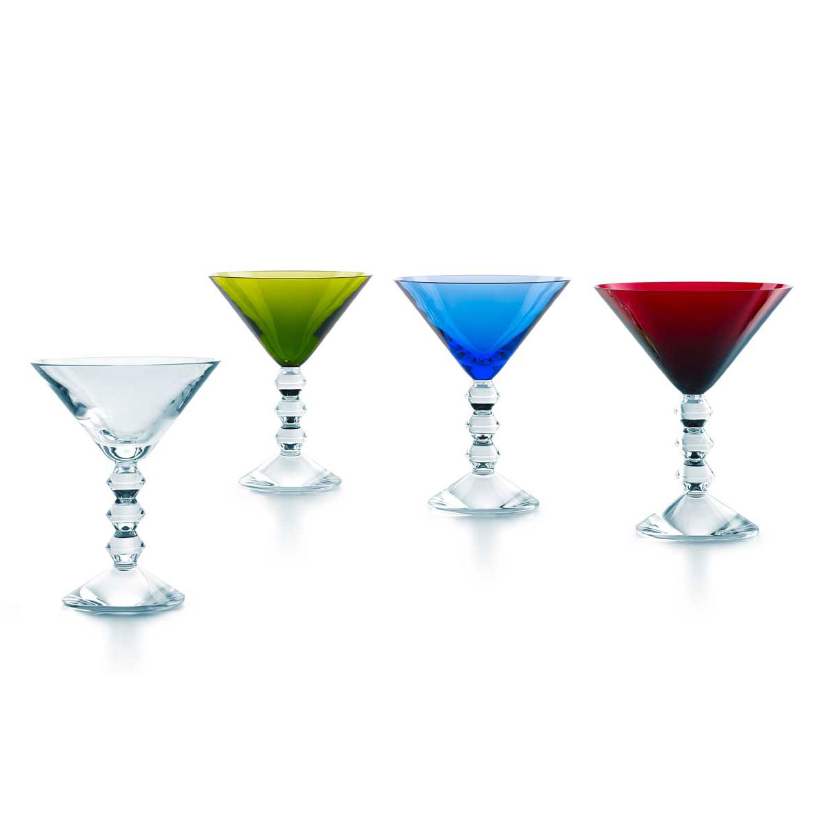 Baccarat Crystal, Vega Martini Glasses Color Set of 4
