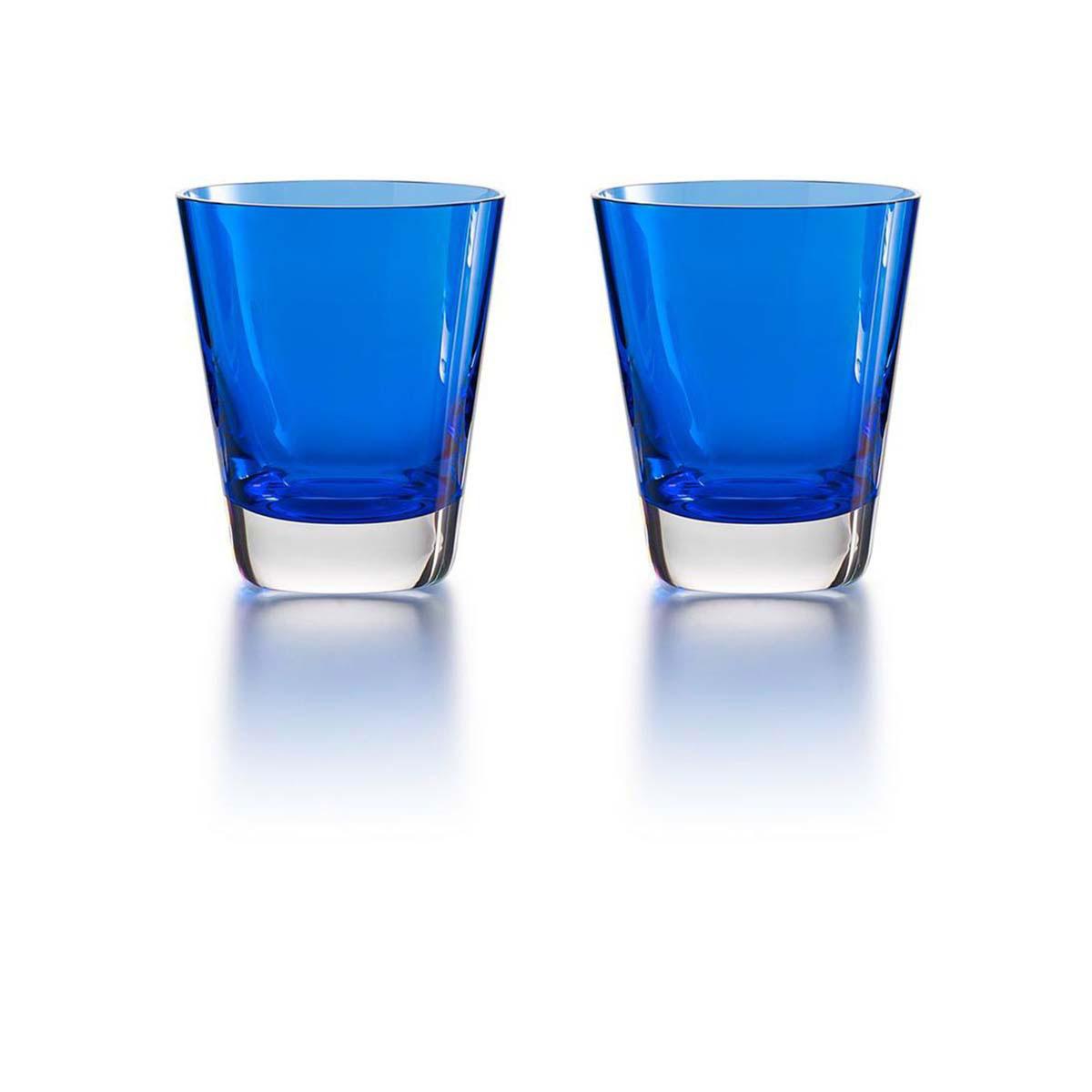 Baccarat Crystal, Mosaique Blue Tumbler, Pair