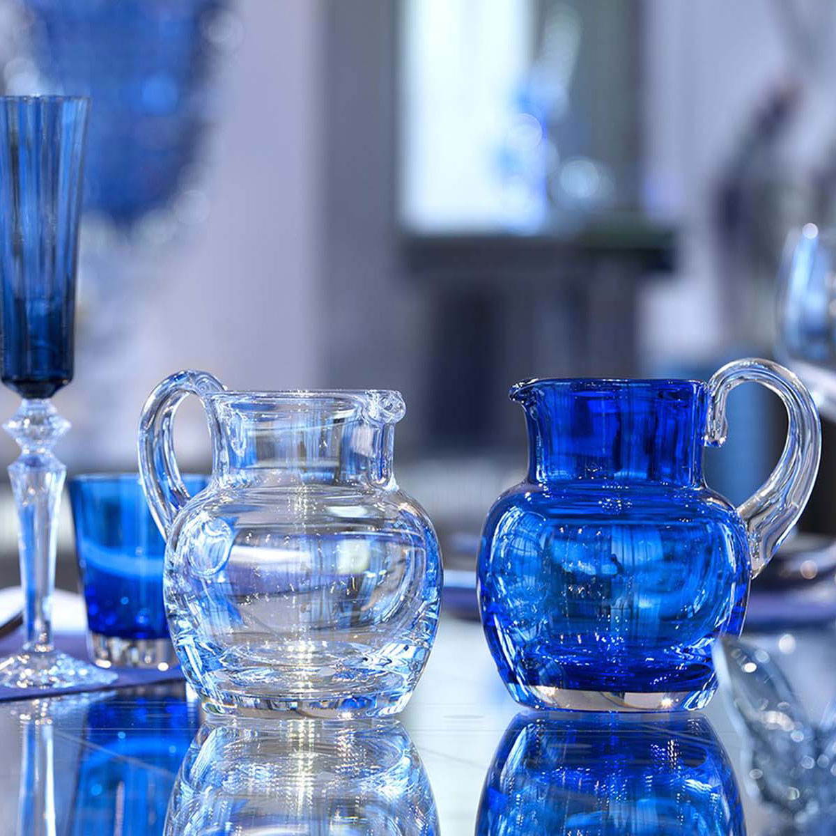 Baccarat Crystal, Mosaique Clear Crystal Pitcher
