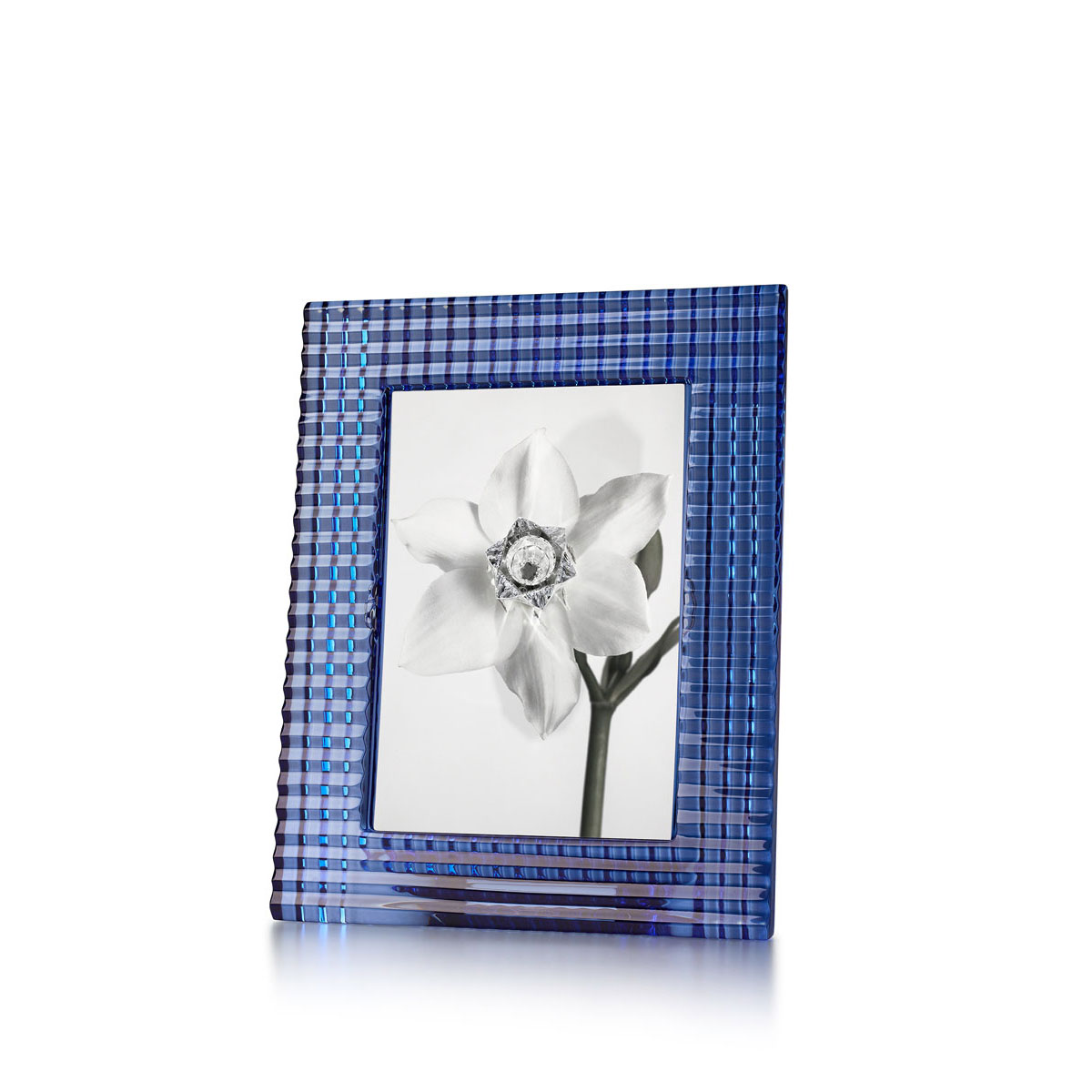 """Baccarat Crystal, Eye 5x7"""" Picture Frame, Blue"""