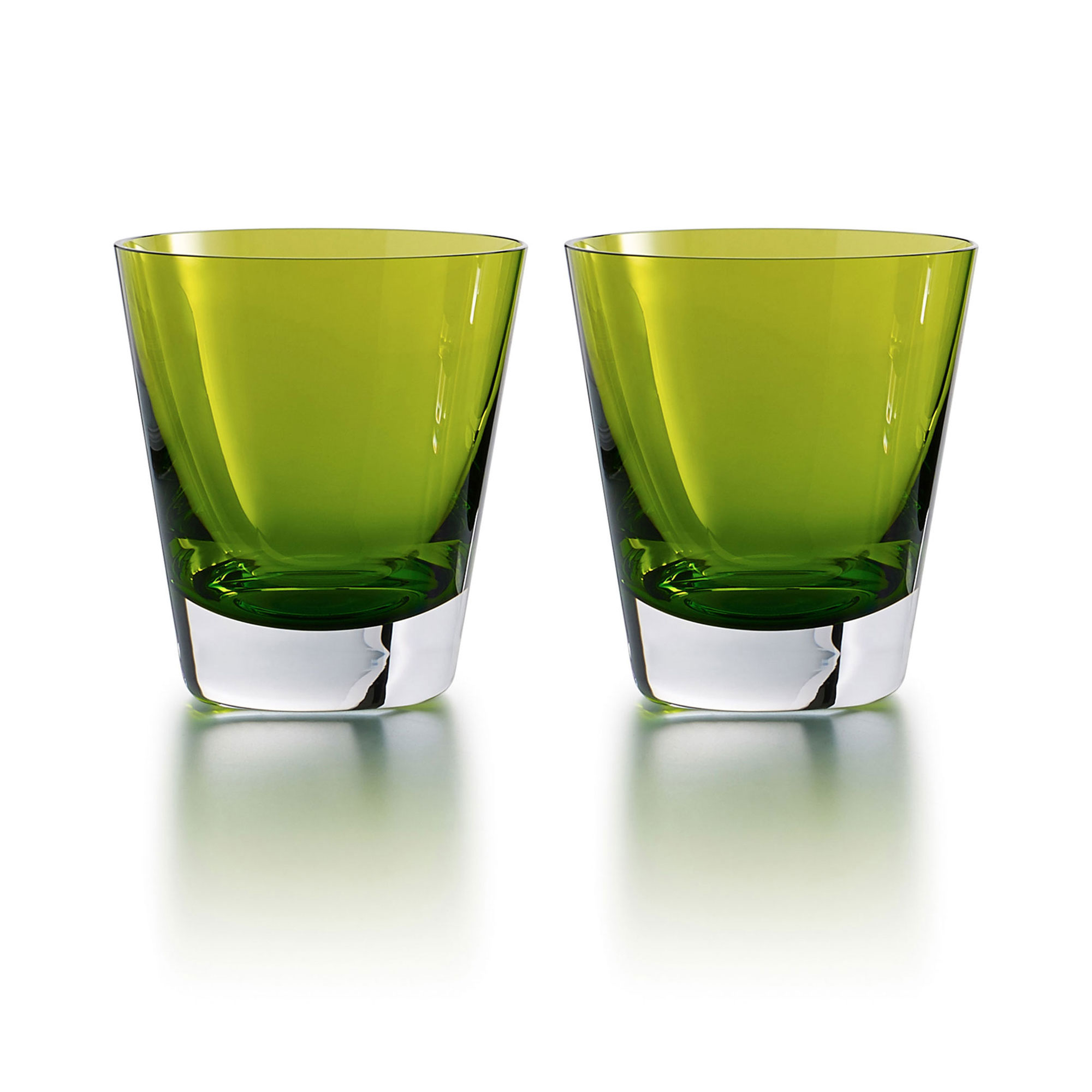 Baccarat Crystal, Mosaique Tumbler Moss, Boxed, Pair