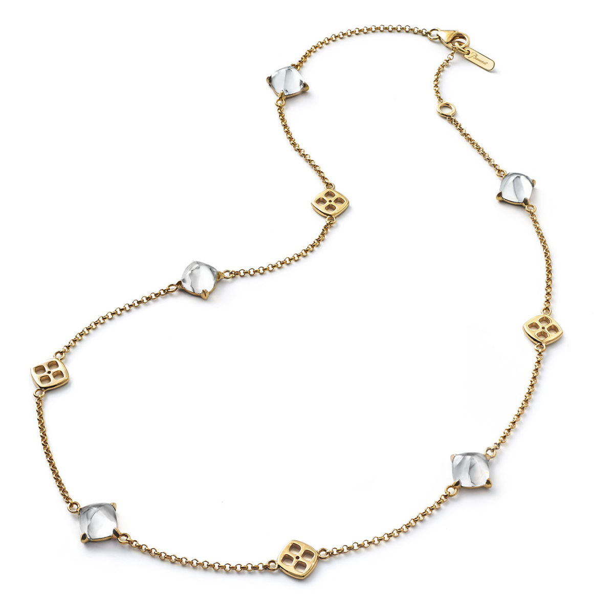 Baccarat Crystal Medicis Mini Necklace Vermeil Gold Clear