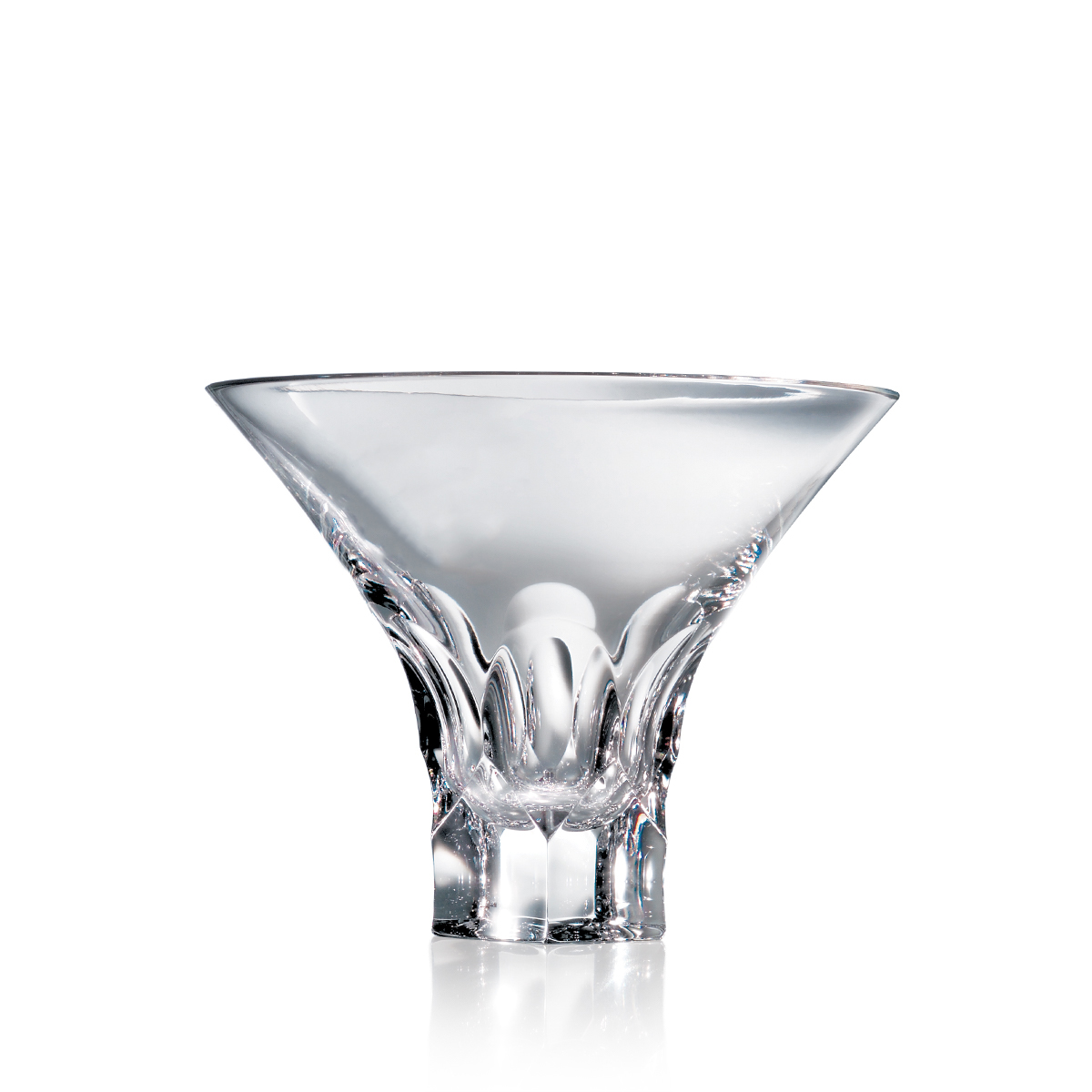 Steuben Tortoise Martini Glass, Single