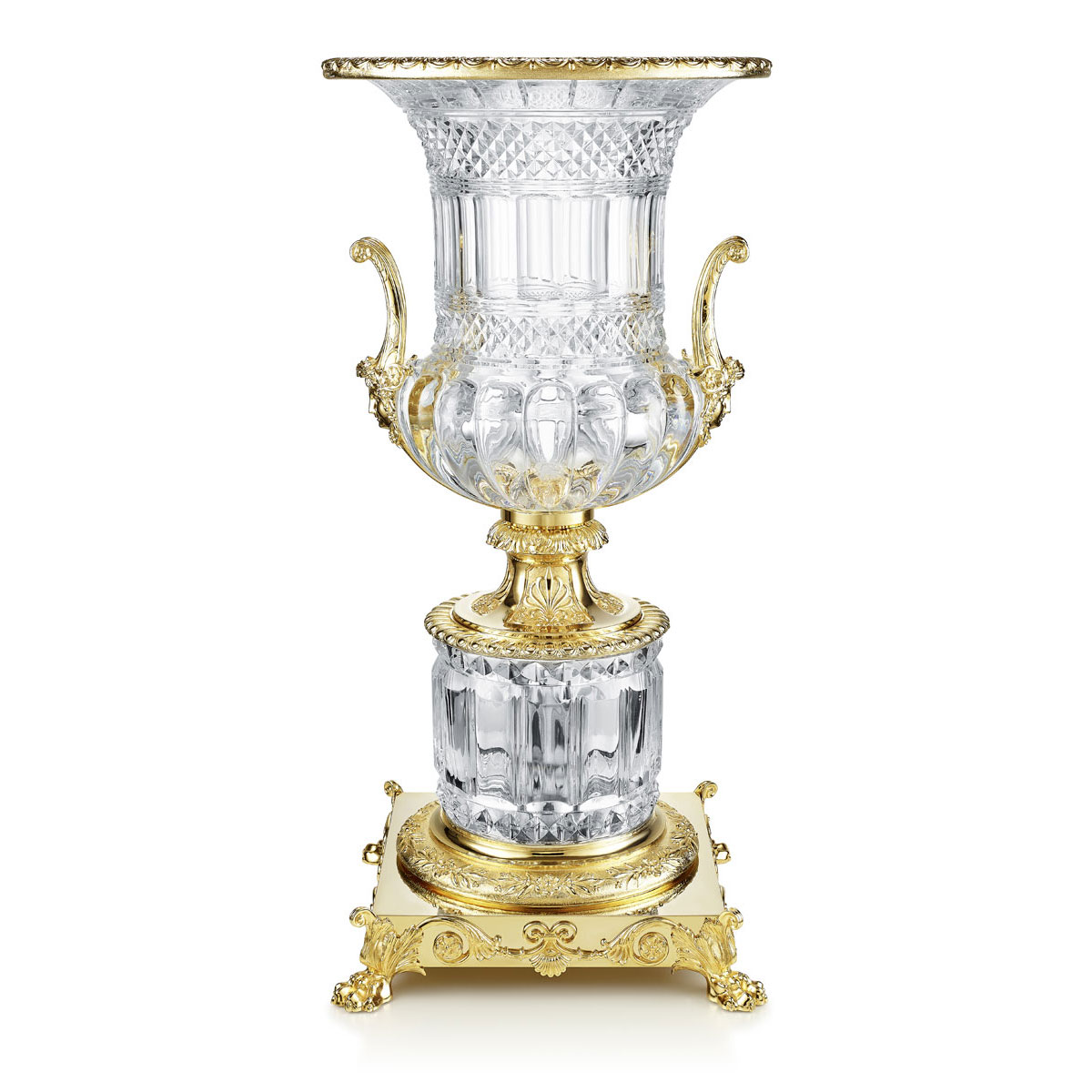 Baccarat Crystal Medicis Bronze Vase, Limited Edition Of 25