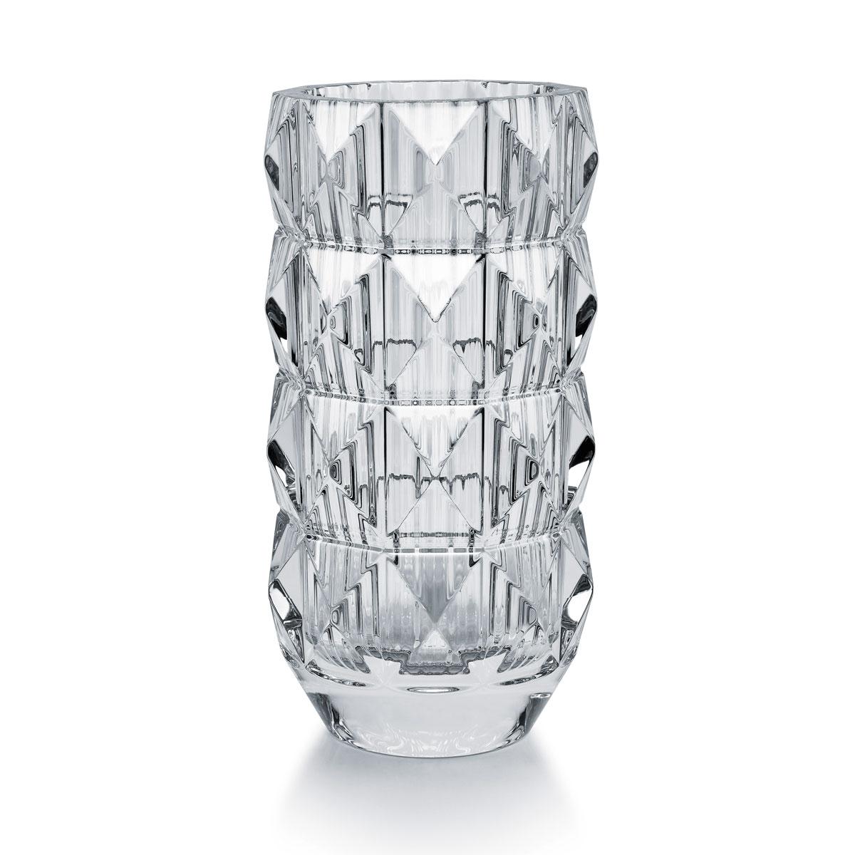 "Baccarat Crystal Louxor Round 16 1/2"" Vase"