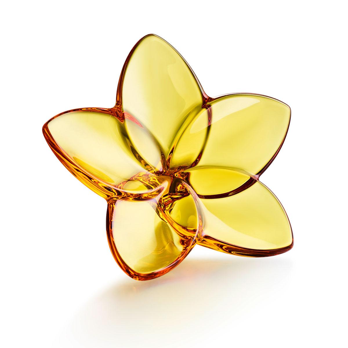 Baccarat Bloom Amber Flower Sculpture