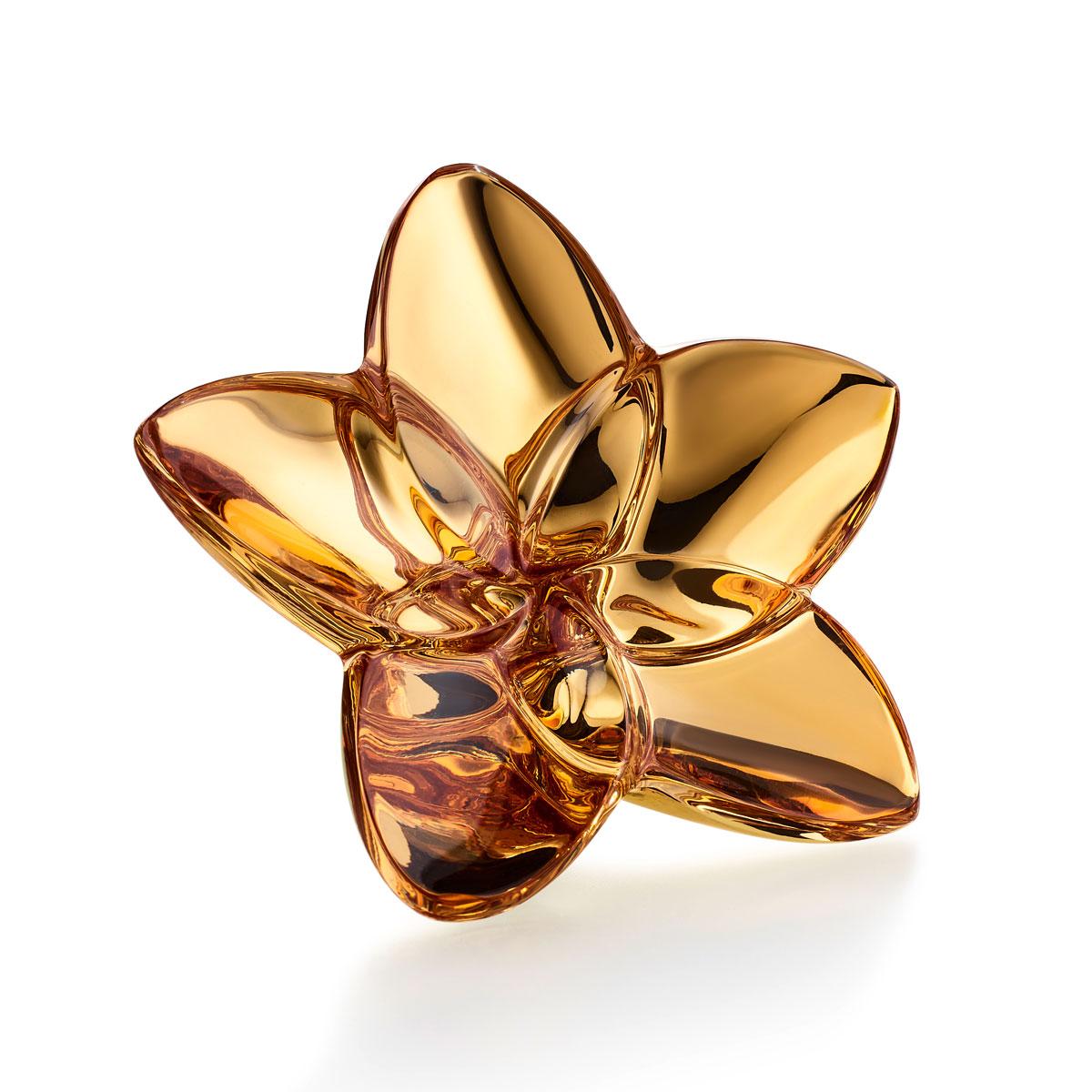 Baccarat Bloom Gold Flower Sculpture
