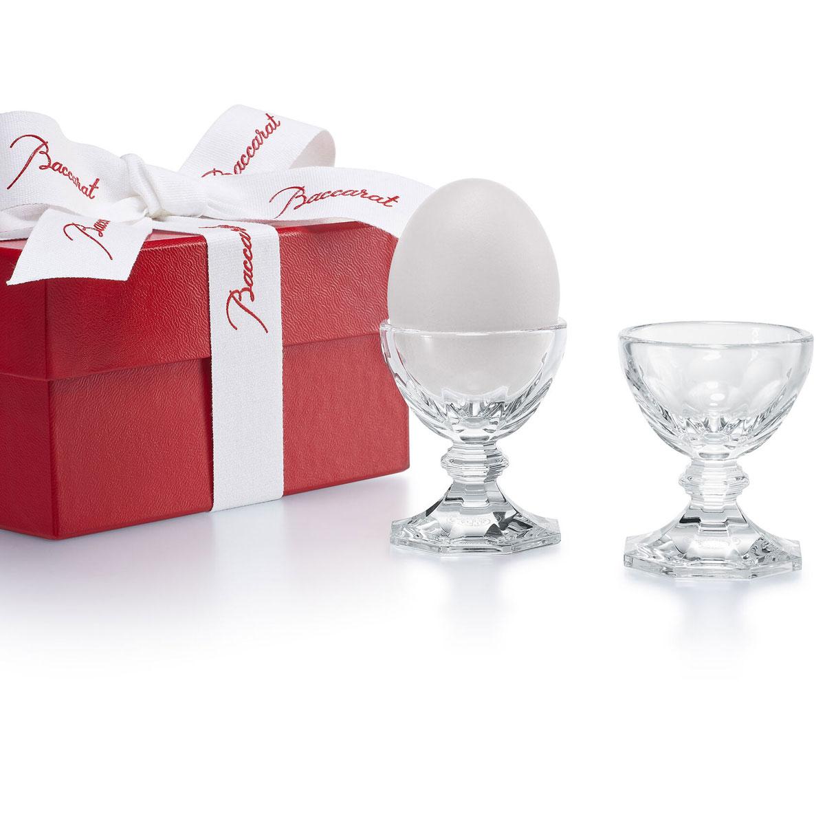 Baccarat Harcourt Egg Holder, Pair
