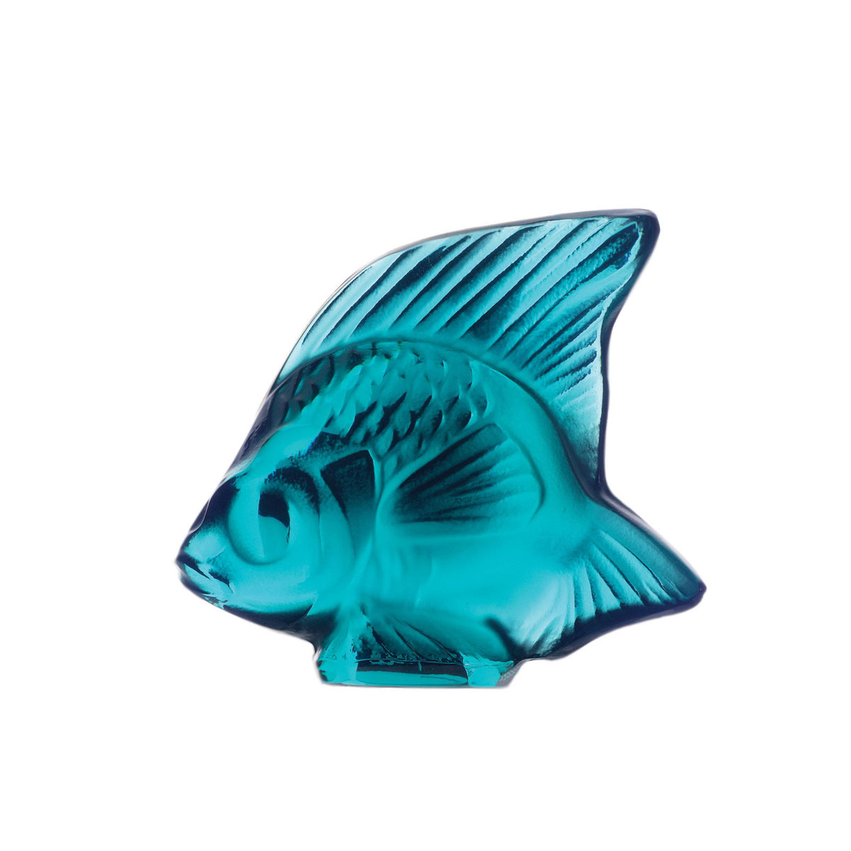 Lalique Crystal, Turquoise Fish Sculpture