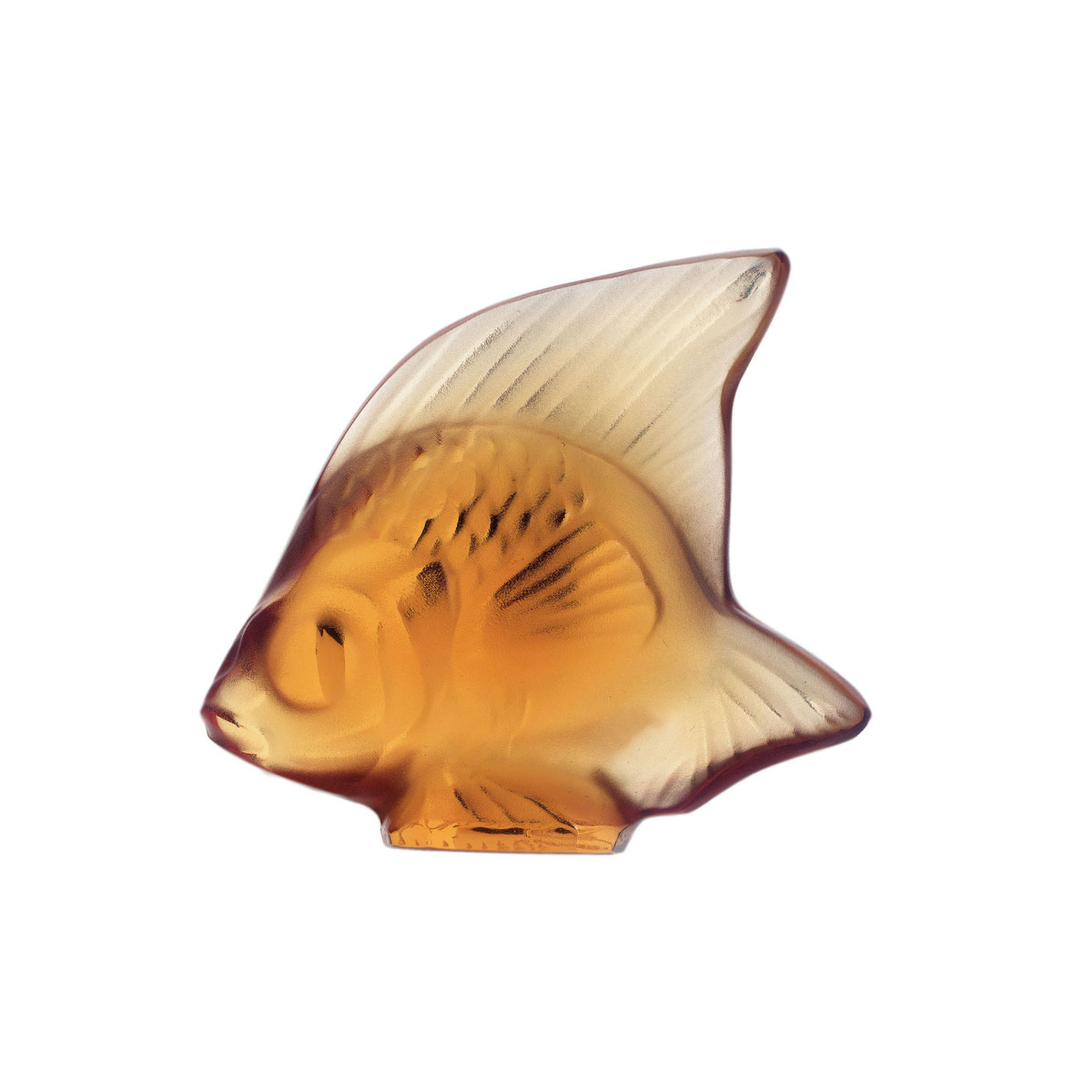 Lalique Crystal, Amber Fish Sculpture
