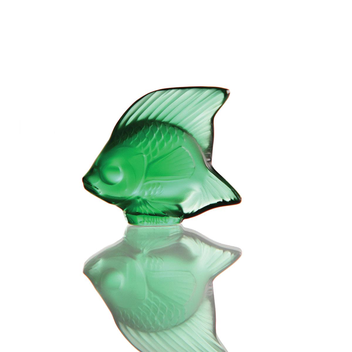 Lalique Crystal, Emerald Fish Sculpture