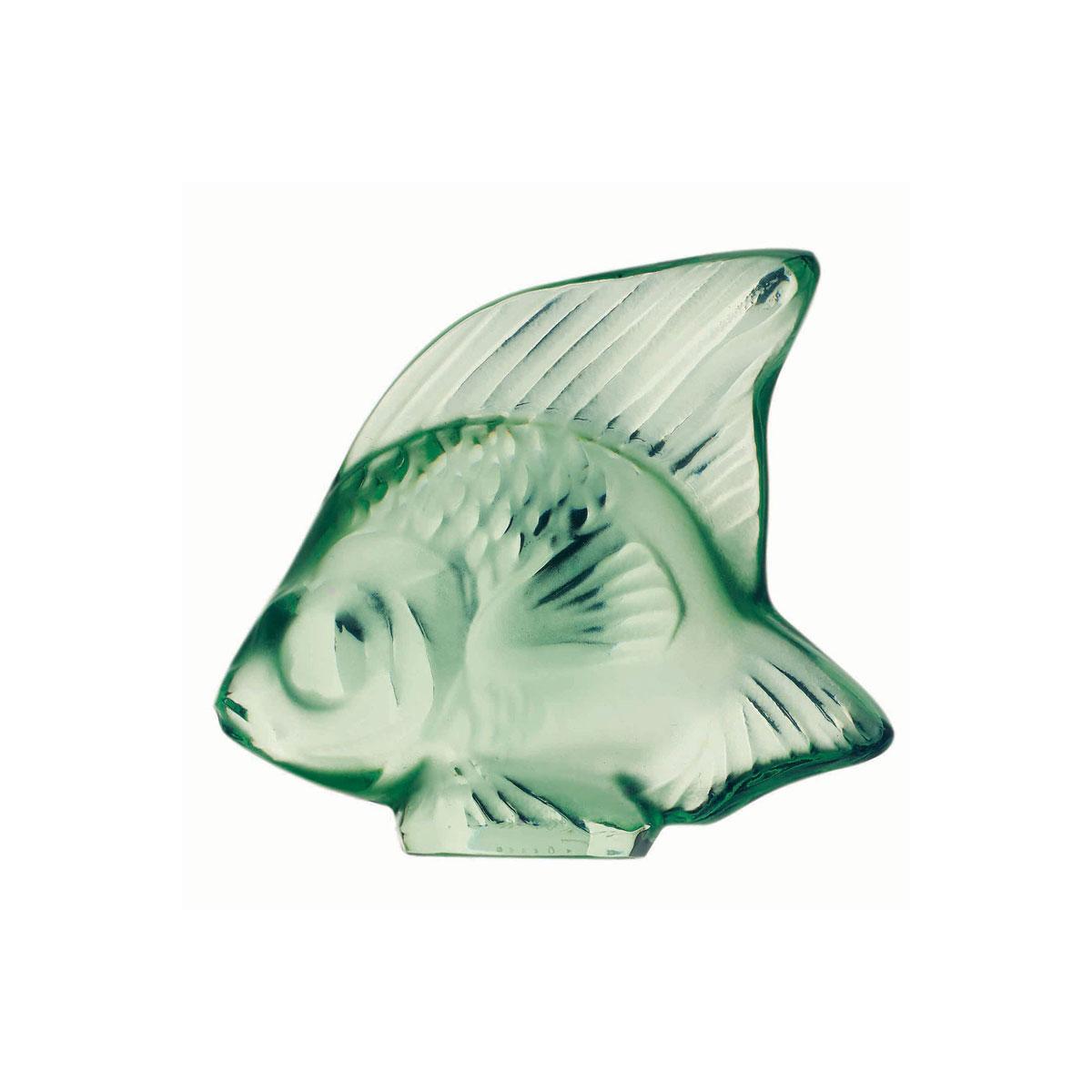 Lalique Light Green Fish Sculpture