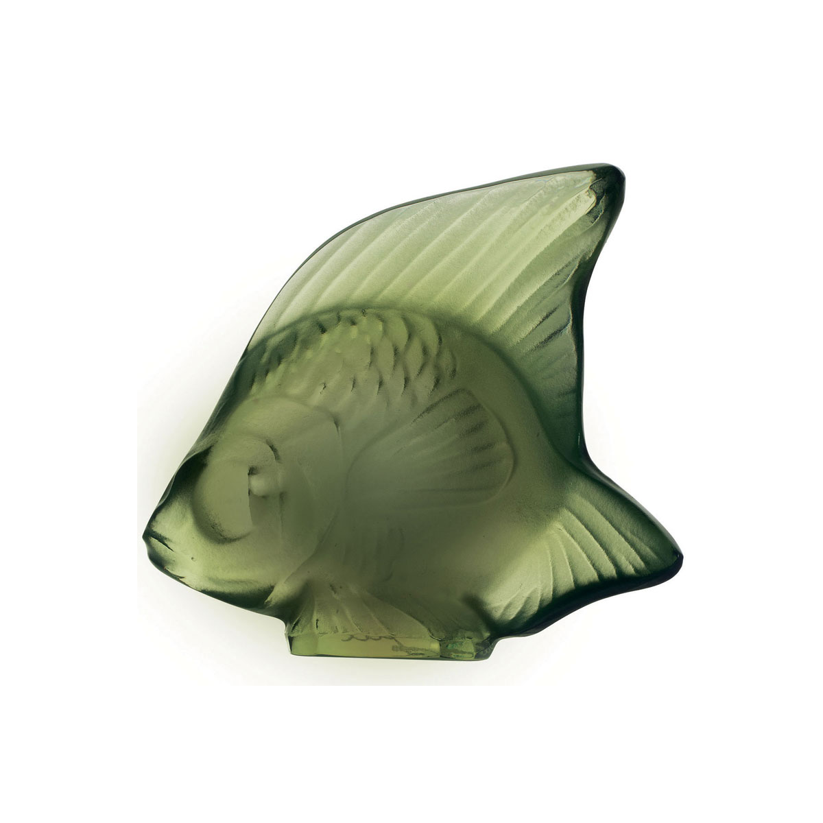 Lalique Crystal, Antinea Green Fish Sculpture