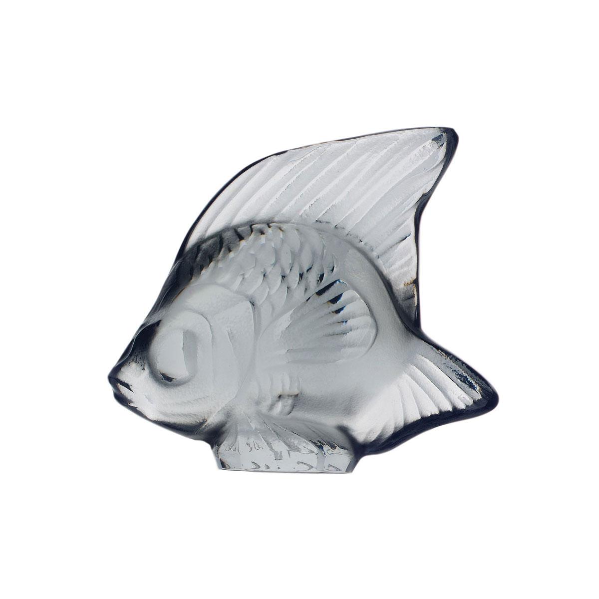 Lalique Crystal, Grey Fish Sculpture