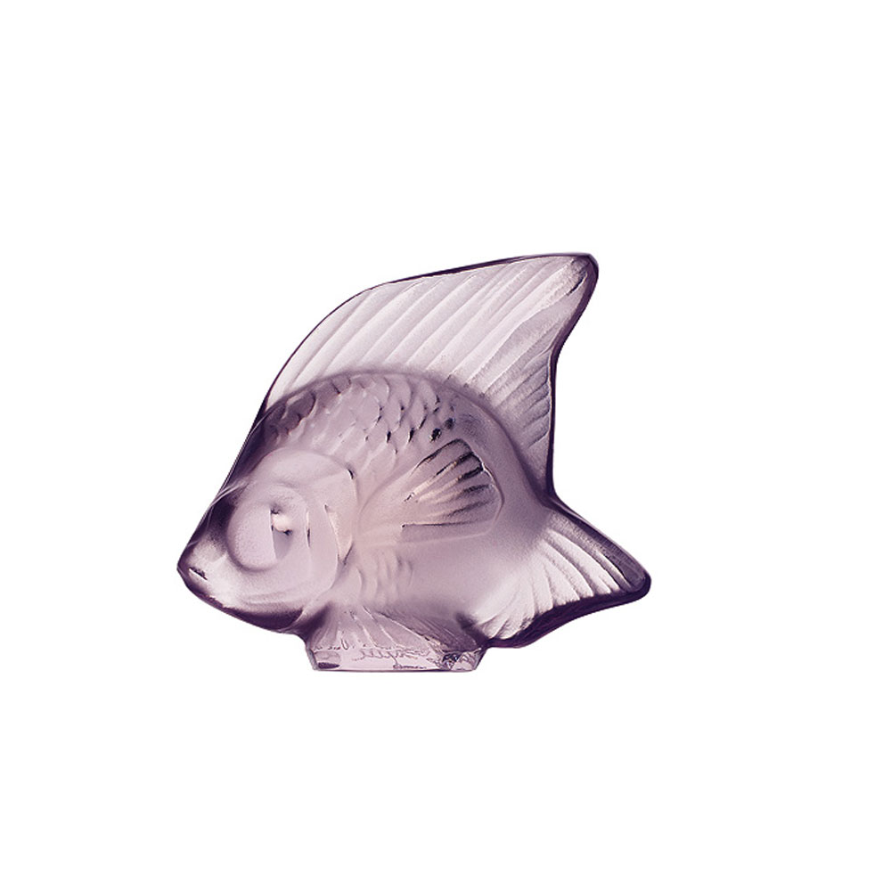 Lalique Crystal, Lilac Fish Sculpture