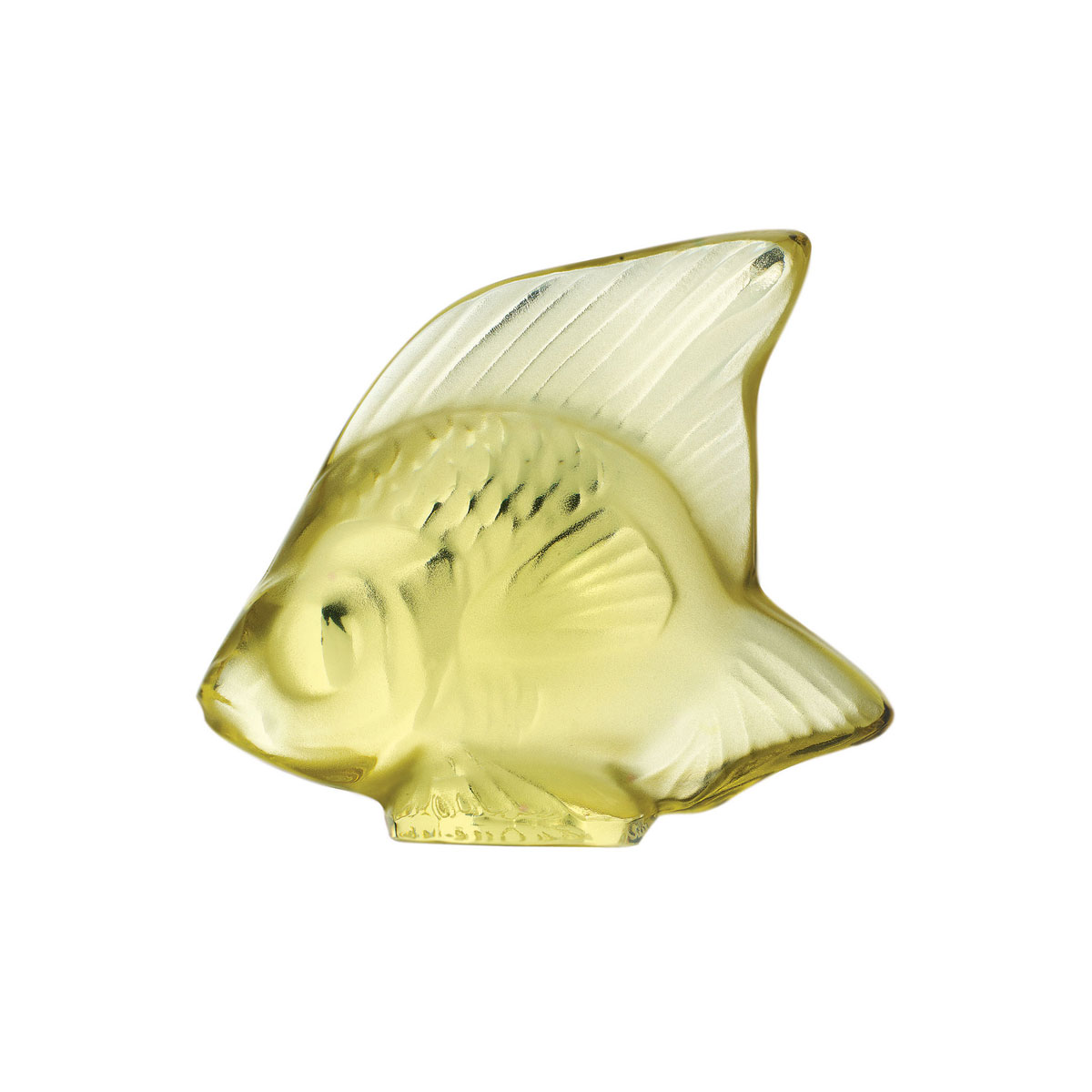 Lalique Sun Yellow Fish Sculpture