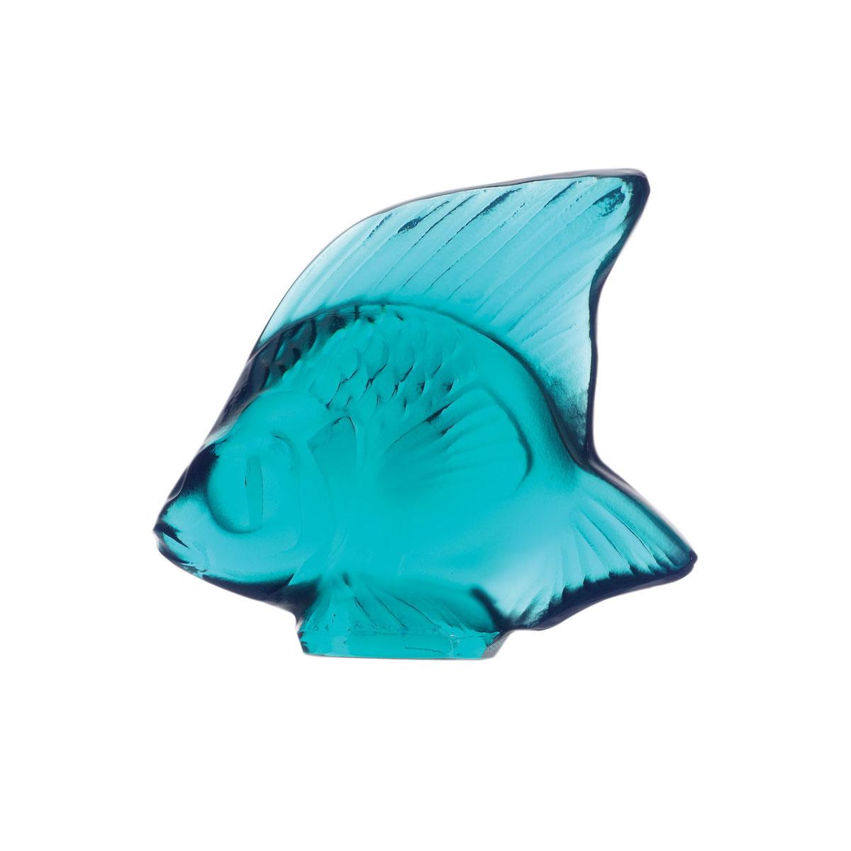 Lalique Pale Turquoise Fish Sculpture