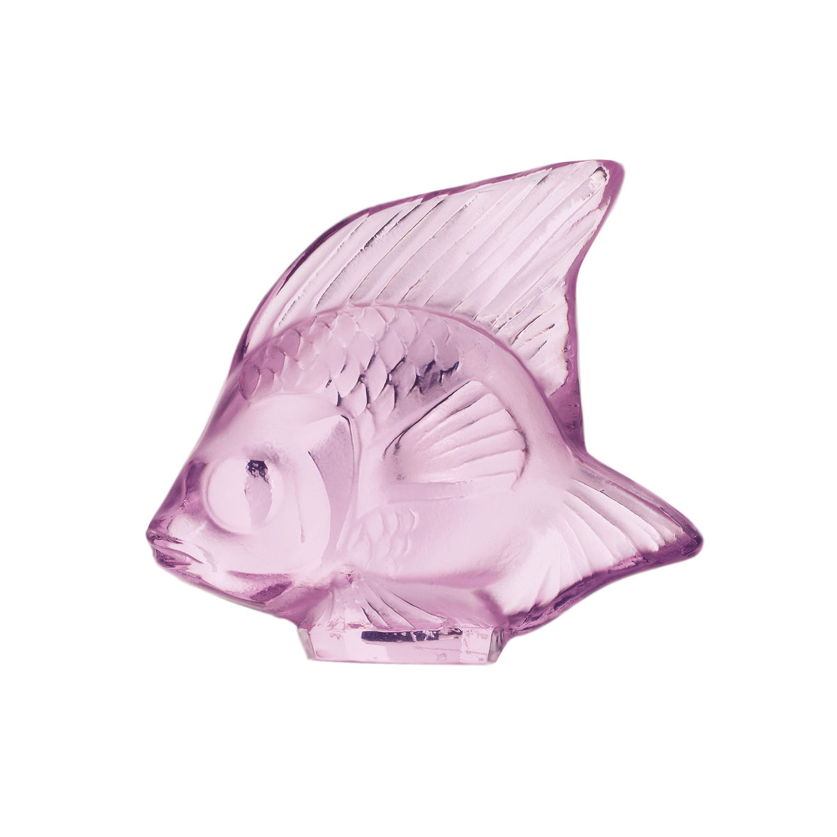 Lalique Crystal, Pink Fish Sculpture