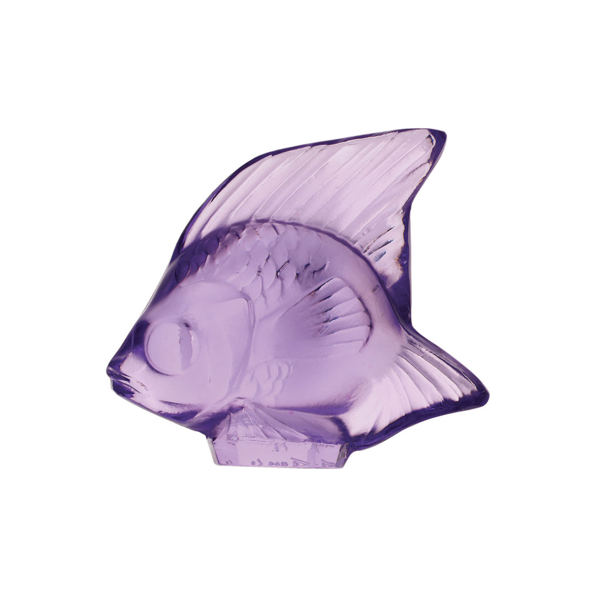 Lalique Crystal, Light Purple Fish Sculpture