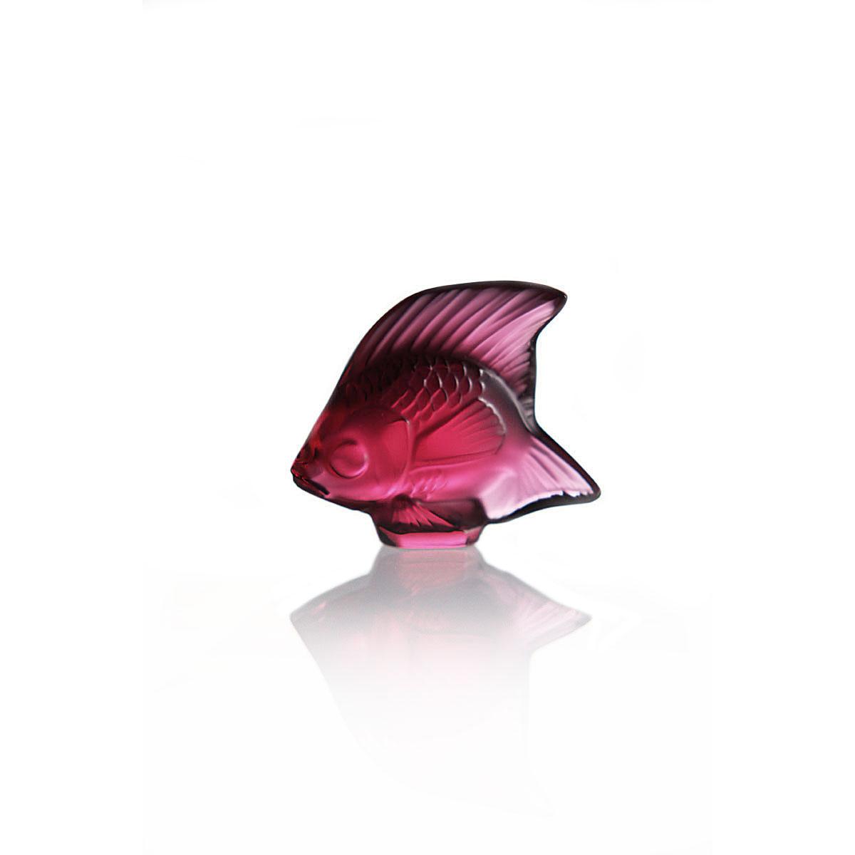 Lalique Red Fish Sculpture