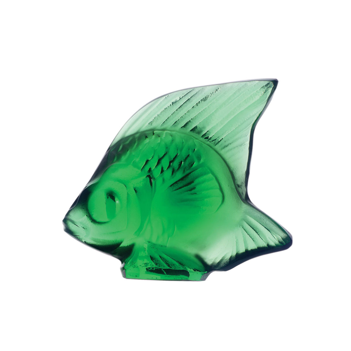 Lalique Green Meadow Fish Sculpture