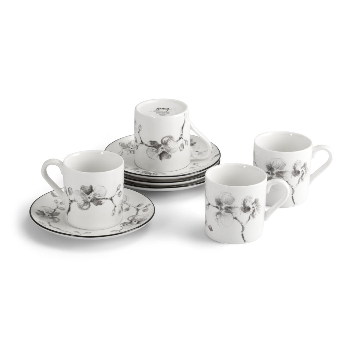 Michael Aram Black Orchid Demitasse Set, Set of Four