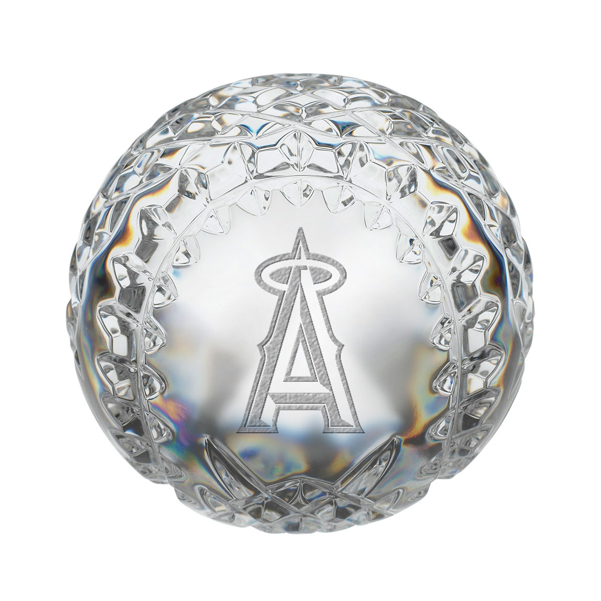Waterford MLB Anaheim Angels Crystal Baseball Paperweight