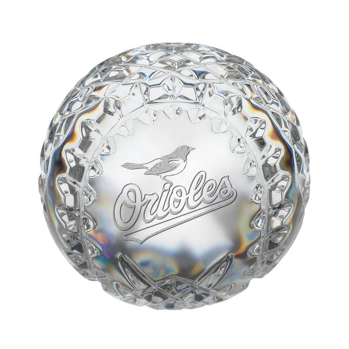 Waterford MLB Baltimore Orioles Crystal Baseball Paperweight