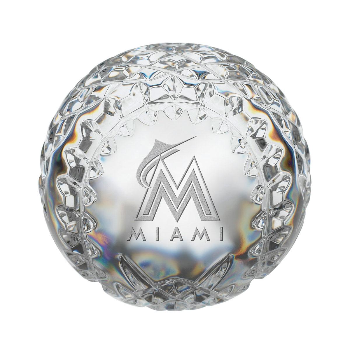 Waterford MLB Florida Marlins Crystal Baseball