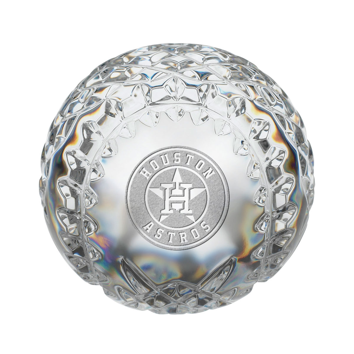 Waterford MLB Houston Astros Crystal Baseball Paperweight
