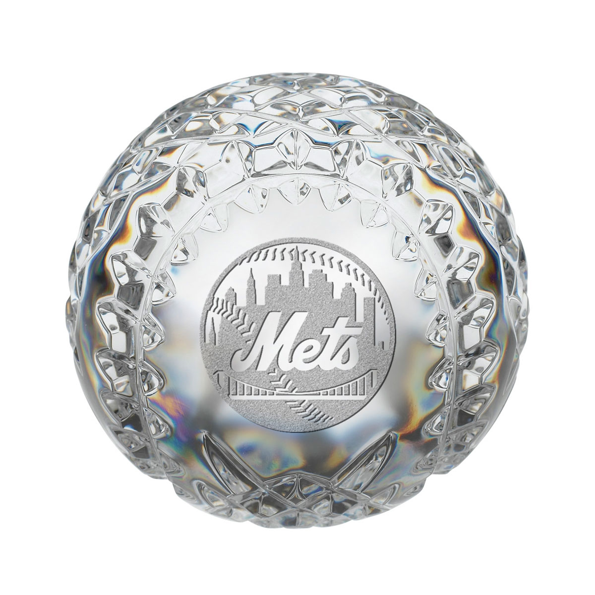 Waterford MLB New York Mets Crystal Baseball Paperweight