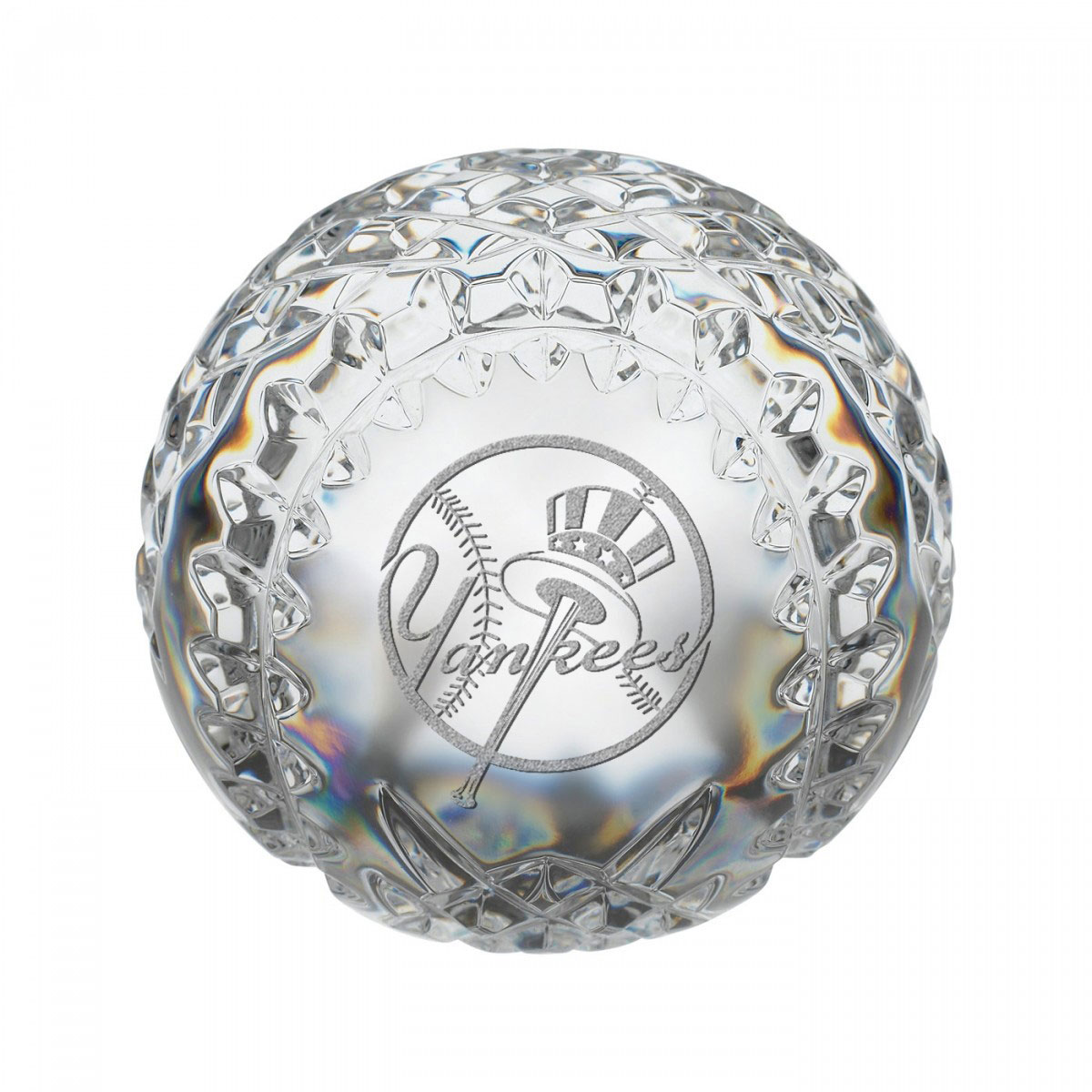 Waterford MLB New York Yankees Crystal Baseball Paperweight