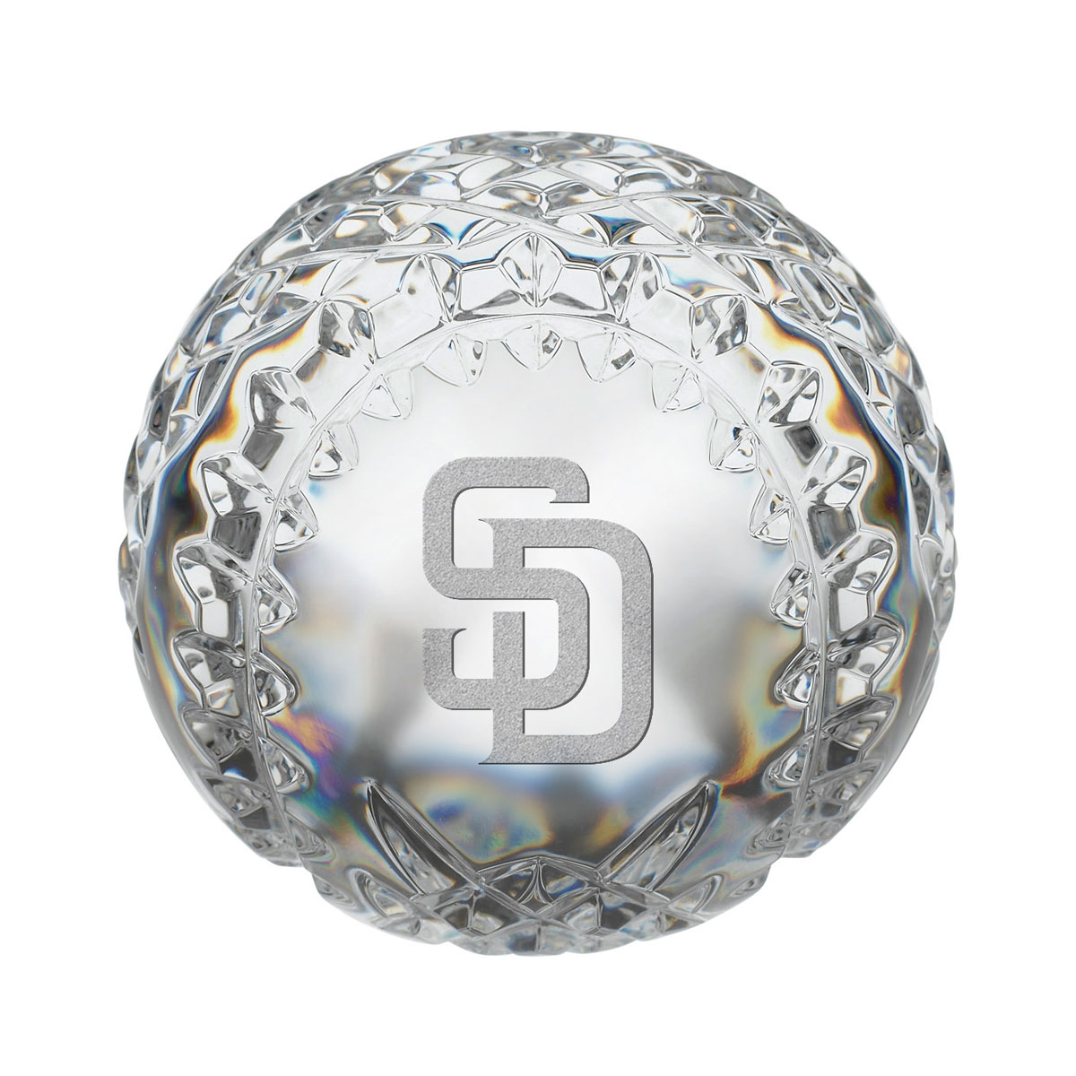 Waterford MLB San Diego Padres Crystal Baseball Paperweight