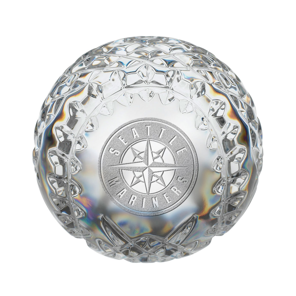Waterford MLB Seattle Mariners Crystal Baseball Paperweight