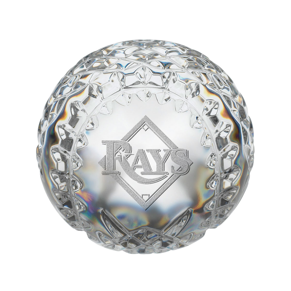 Waterford MLB Tampa Bay Rays Crystal Baseball Paperweight