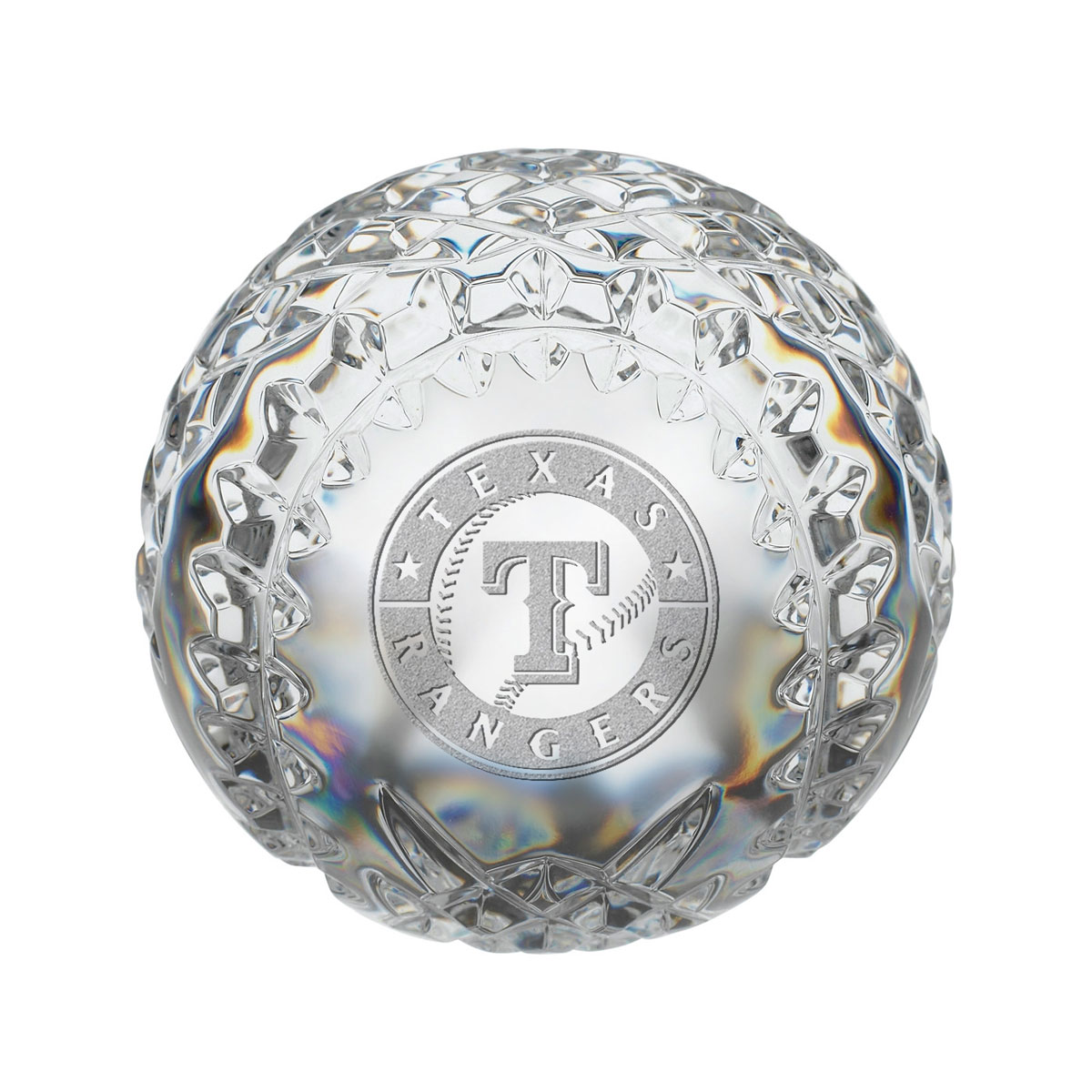 Waterford MLB Texas Rangers Crystal Baseball Paperweight