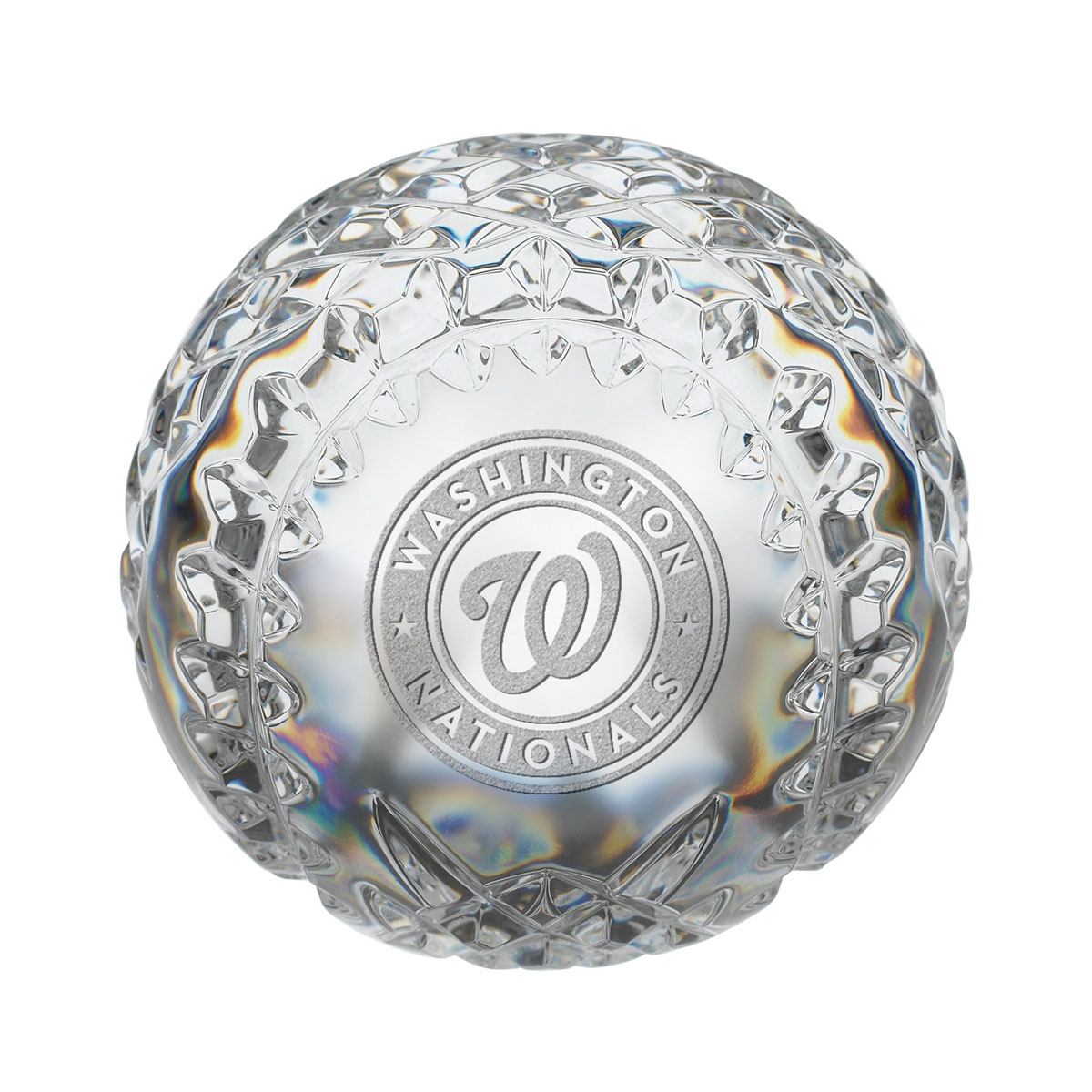 Waterford MLB Washington Nationals Crystal Baseball Paperweight
