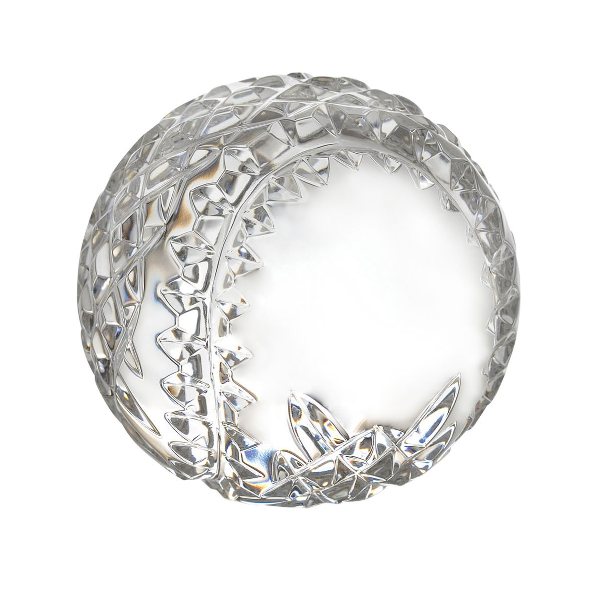 Waterford Crystal Blank Panel Baseball Paperweight