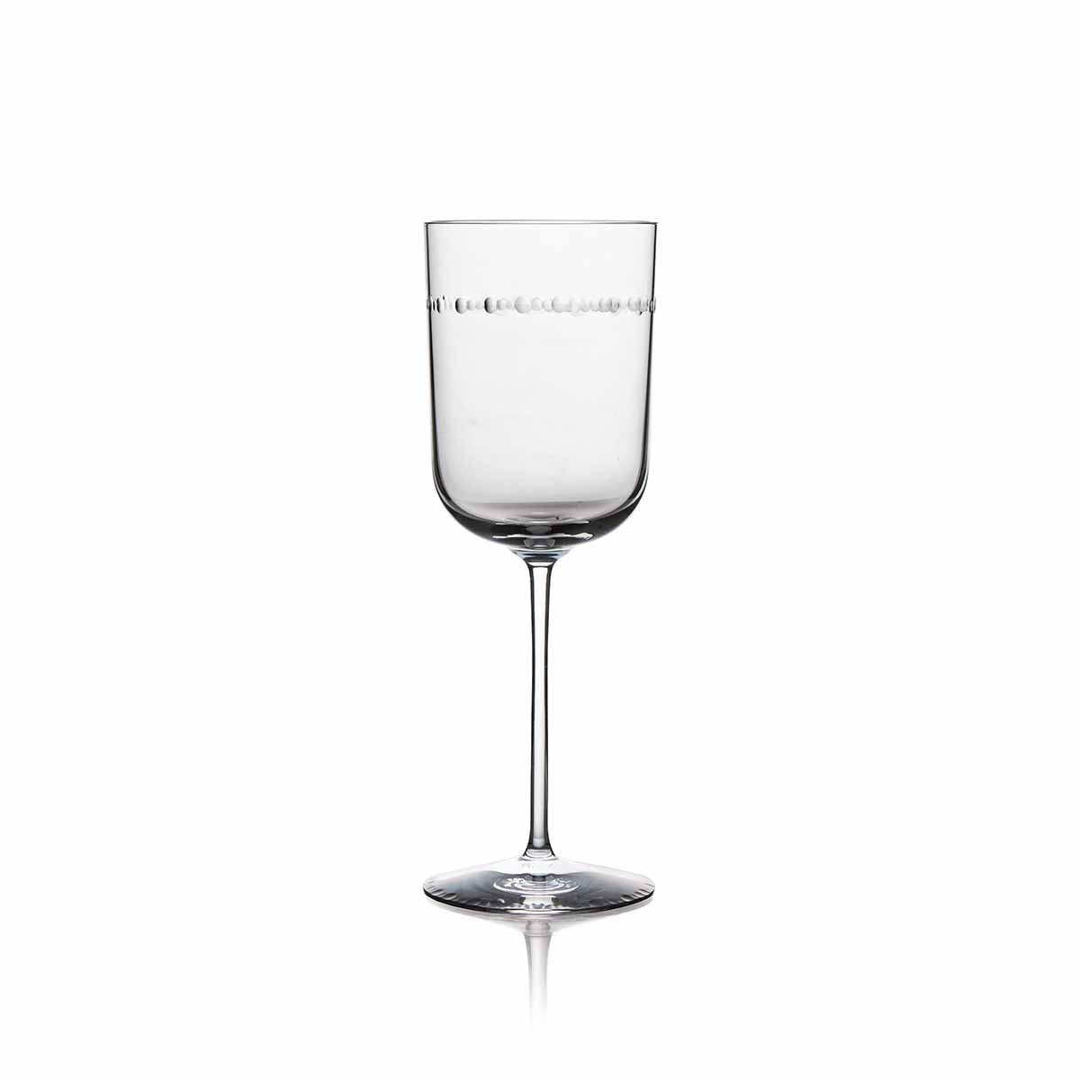 Michael Aram, Hammertone Crystal Wine Glass, Pair