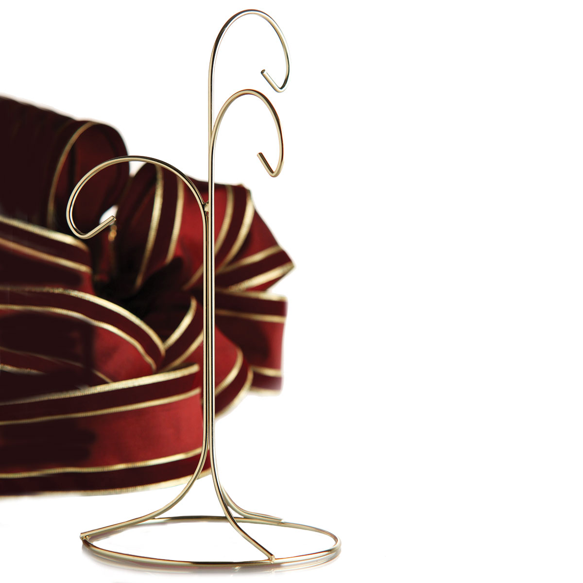 "Brass 11"" Triple Ornament Stand"