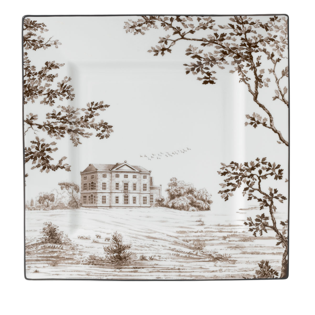 """Wedgwood China Parkland Accent Plate Square 10"""""""
