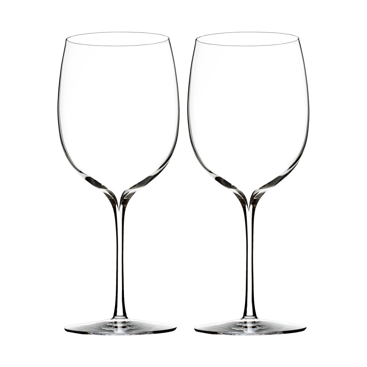 Waterford Crystal, Elegance Bordeaux Crystal Wine Glass, Pair