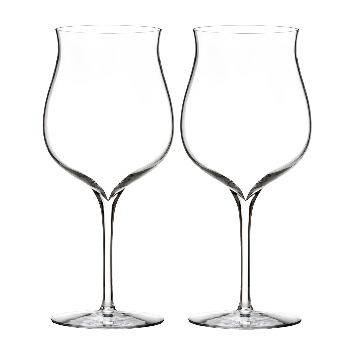 Waterford Crystal, Elegance Burgundy Glass, Pair