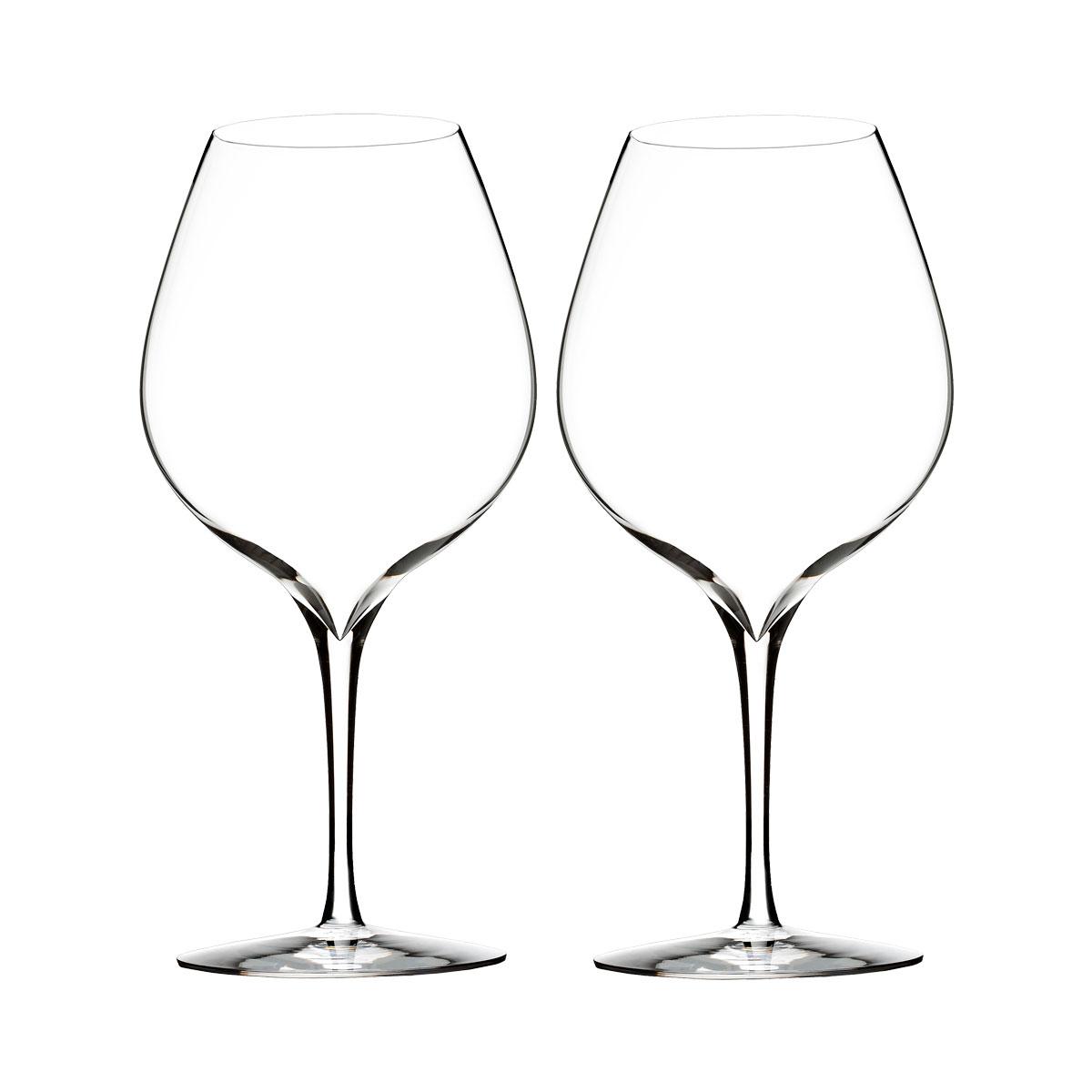 Waterford Crystal, Elegance Merlot Crystal Wine Glass, Pair