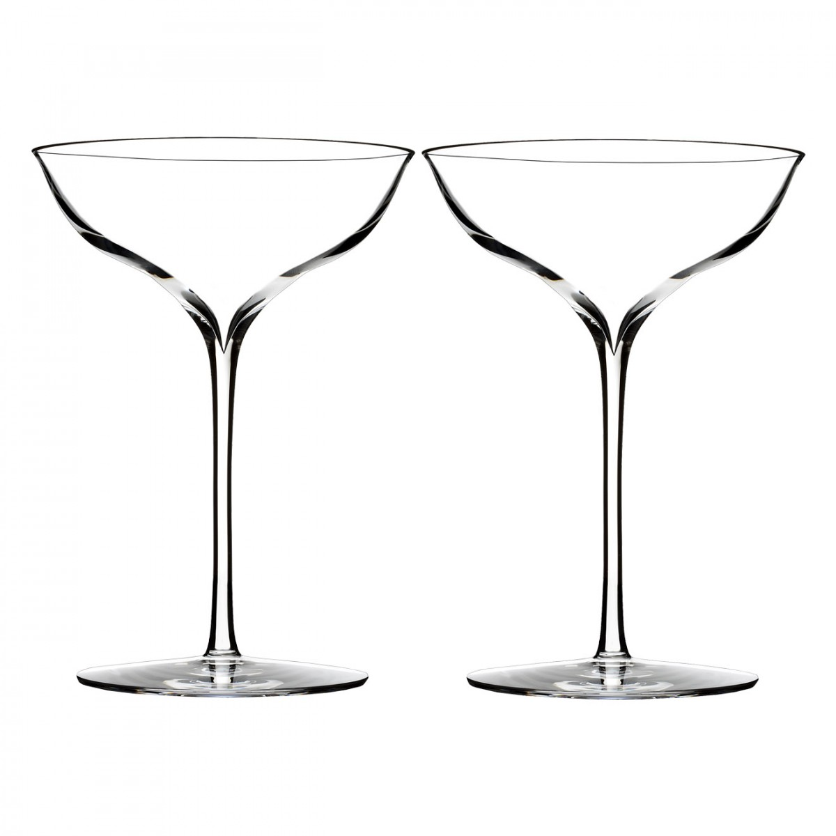 Waterford Crystal, Elegance Crystal Champagne Belle Coupe, Pair